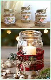 jar candle ideas diy jar christmas gift wrapping ideas