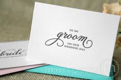 To My Groom On Our Wedding Day Card Wedding Day Cards For The Bride U0026 Groom Bridal Party Vendors
