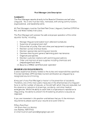 resume for lifeguard resume for your job application