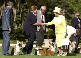 queen elizabeth owns three corgis monty holly and willow and