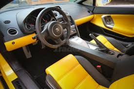 Lamborghini Murcielago Lp640 Interior Lamborghini Gallardo Black And Yellow Interior Grey Handles Auto