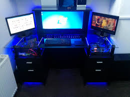 computer desk for gaming pc glass gaming desk project album on imgur