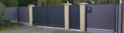 portail pour maison pas cher portail coulissant alu gris anthracite rail pour portail