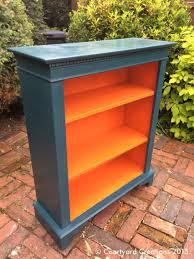 upcycled painted mahogany bookcase valspar u0027sherwood forest