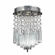 Chrome Flush Mount Ceiling Light by Collection 5 Light Chrome Finish And Clear Crystal Flush Mount