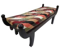 Bench With Rolled Arms Upholstered Bench With Rolled Arms Natural Fibres Export