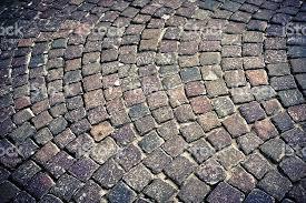 sanpietrini cobblestone floor in firenze tuscany stock