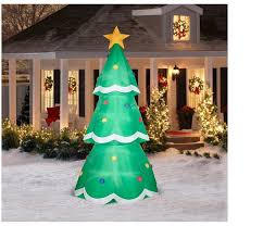 Outdoor Christmas Yard Decorations by 10 U0027 Giant Christmas Tree Airblown Inflatable Outdoor Christmas