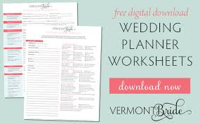downloadable wedding planner free wedding planning worksheets
