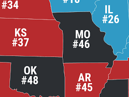 States Ive Been To Map by This Map Reveals The Most Dangerous And Safest States In America