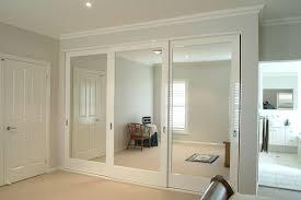Wall To Wall Closet Doors Mirror Design Ideas Central Mirrored Sliding Door