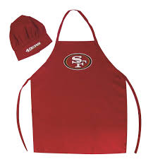 amazon com san francisco 49ers nfl barbeque apron and chef u0026 039 s