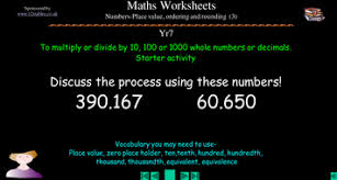ks3 multiplying dividing decimals by 10 100 1000 by squidley