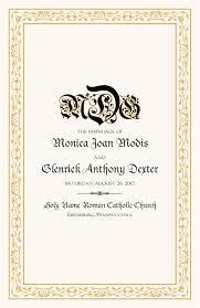 celtic border wedding programs wedding program wording program