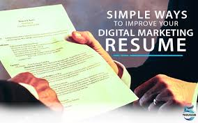 Improve Resume Simple Ways To Improve Your Digital Marketing Resume 5000