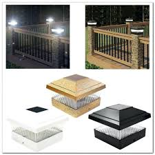 Low Voltage Outdoor Deck Lighting by Solar Lights Posts Aries Solar Post Cap Deck Light By Aurora Deck
