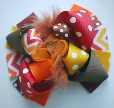 thanksgiving hair bows mini mod thanksgiving chevron loopy hair bow