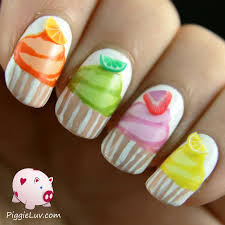 piggieluv more cupcakes on my nails hand painted nail art
