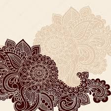 henna mehndi tattoo doodles vector design elements u2014 stock vector
