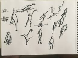 gesture black pen ink poses sketches speed drawing every