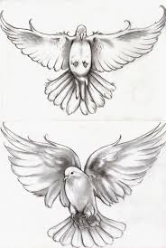 awesome flying dove tattoos design