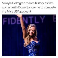 Syndrome Of A Down Meme - dopl3r com memes mikayla holmgren makes history as first woman