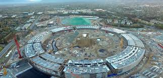 aerial views reveal construction progress at new apple campus