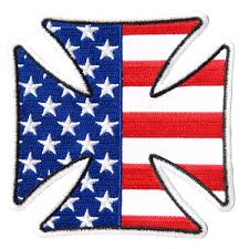 American Flag Suspenders Leathers Iron Cross American Flag Patch