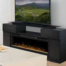 endzone electric fireplace entertainment center in espresso with