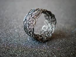 silver wire rings images Rings for crochet sterling silver wire ring black luulla jpg