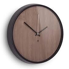 wall clocks madera modern walnut wall clock by umbra eurway