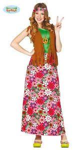 foto hippie figli dei fiori costume vestito hippie figli dei fiori adulto