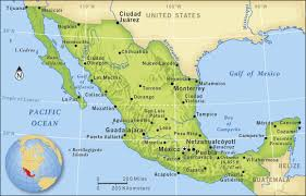 aztec map of mexico aztec map of mexico major tourist attractions maps