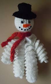 crochet snowman decoration