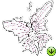 beautiful butterflies machine embroidery designs loralie designs