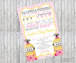 minion baby shower minion baby shower invitations theruntime