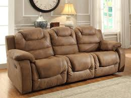 Microfiber Reclining Sofa Homelegance Hoyt Recliner Sofa Brown Microfiber 9618 3