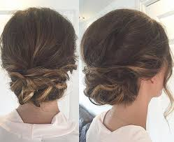 casual updo hairstyles front n back 40 quick and easy updos for medium hair