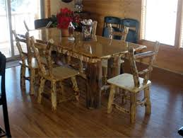 Mexican Dining Room Furniture by Southwest Log Rustic Furniture Western Mexican Cabin Table Phoenix