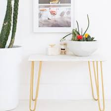 Gold Accent Table Diy Marble Gold Accent Table Craftgawker