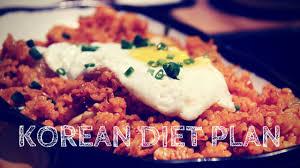 korean diet plan the korean diet
