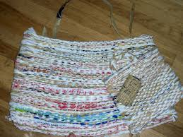 How To Crochet A Rug Out Of Yarn Woven Plastic Bag Bag 10 Steps With Pictures