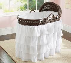 girls frilly bedding ruffle bassinet bedding set pottery barn kids