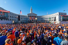 best fans in the world broncos fans at the superbowl victory celebration denver broncos