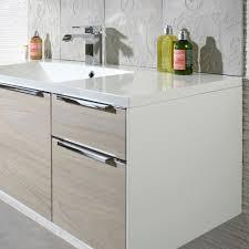 Roper Rhodes Vista Mm Wall Mounted Bathroom Vanity White - Designer vanity units for bathroom