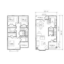 floor plan duplex floor narrow lot plans plan small
