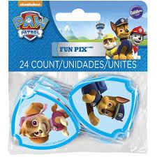 paw patrol fun pix cupcake toppers