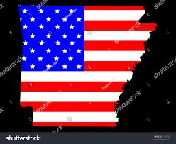 Dansk Flag Map State Arkansas American Flag Stock Vector 3124757 Shutterstock