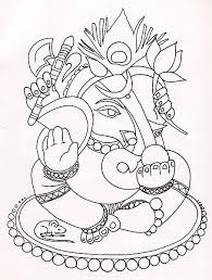 design patterns for paintings sketches ganesh durga lord