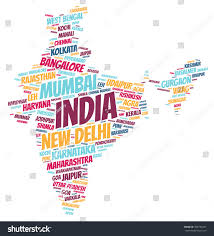 Pune India Map by India Map Silhouette Word Cloud Most Stock Illustration 498735331